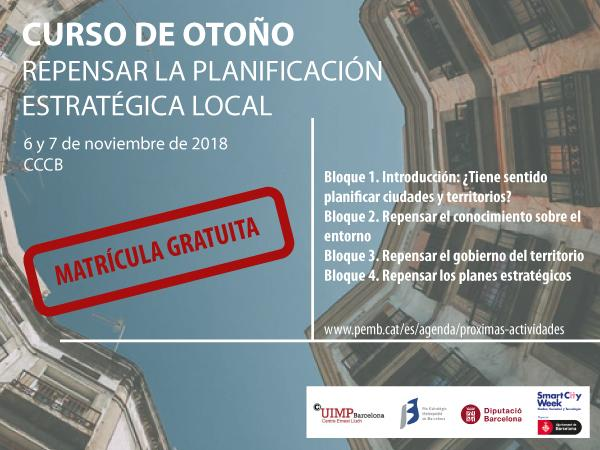 Curso Repensar la Planificación Estratégica Local