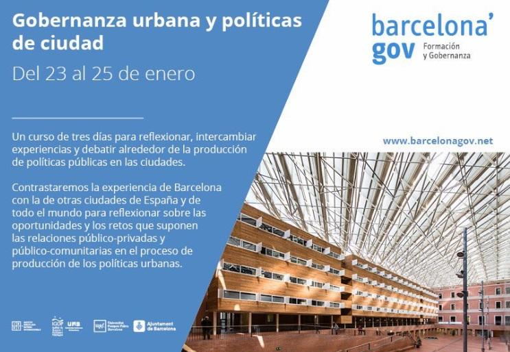 Curs 'Governança urbana i polítiques de ciutat'