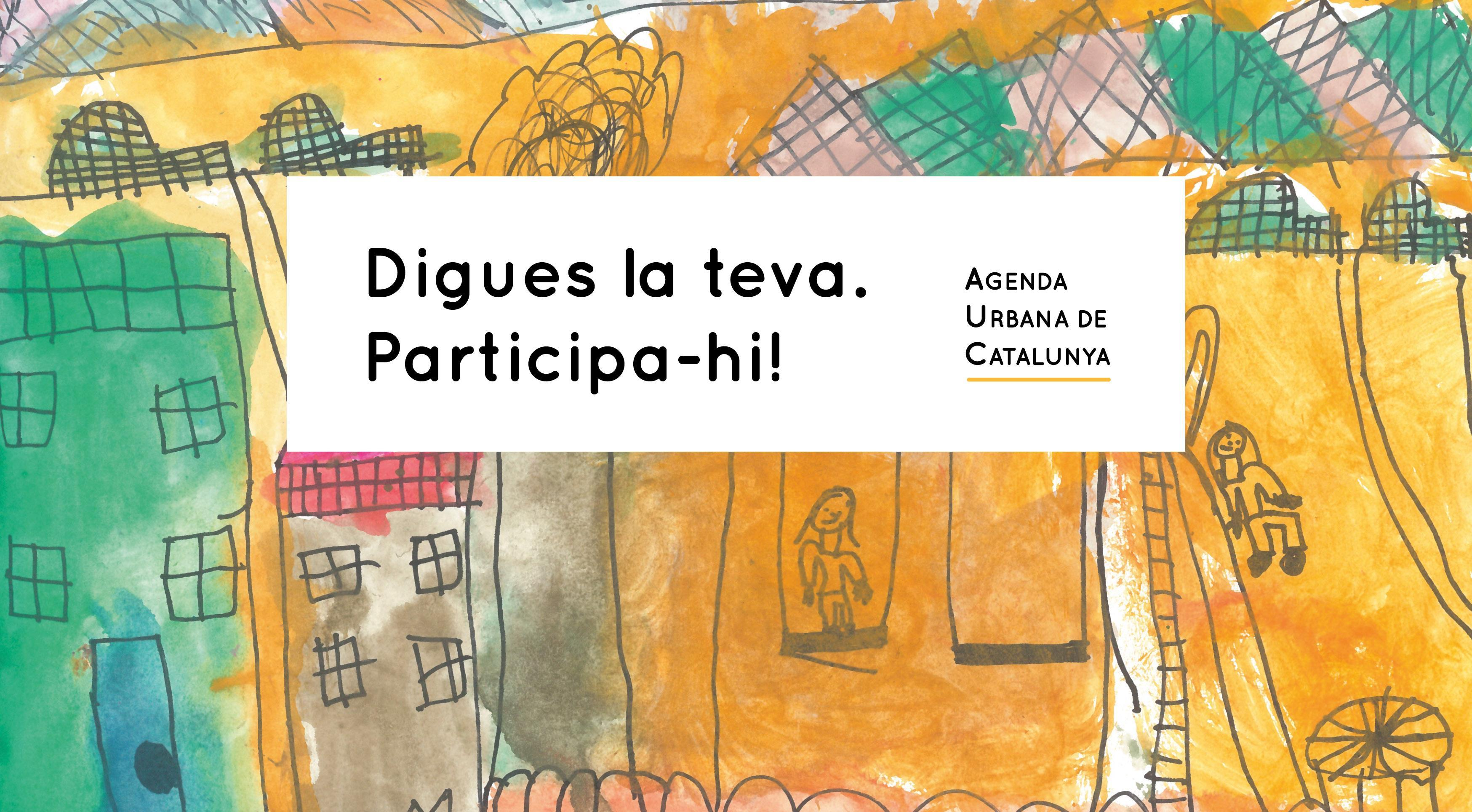 Imagen del proceso participativo de la Agenda Urbana de Catalunya