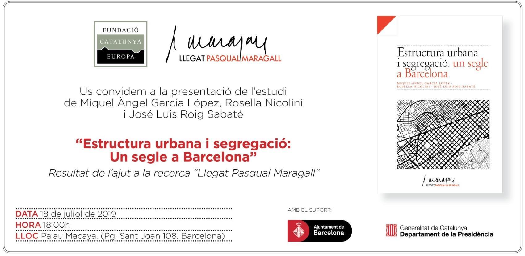 Estructura urbana y segregación: Un siglo en Barcelona