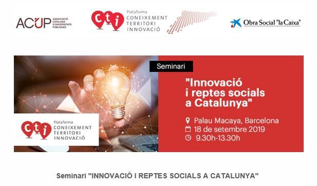 Seminari Innovació i Reptes Socials a Catalunya