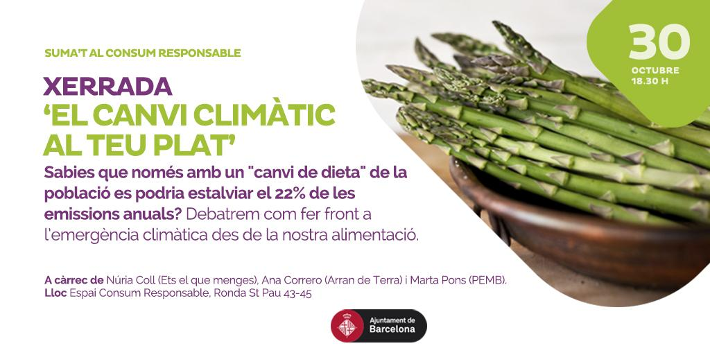 Marta Pons, tècnica del PEMB, participa a la xerrada ?El canvi climàtic al teu plat?