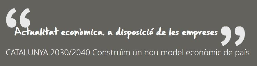 Catalunya 2030/40. Construïm un nou model econòmic de país