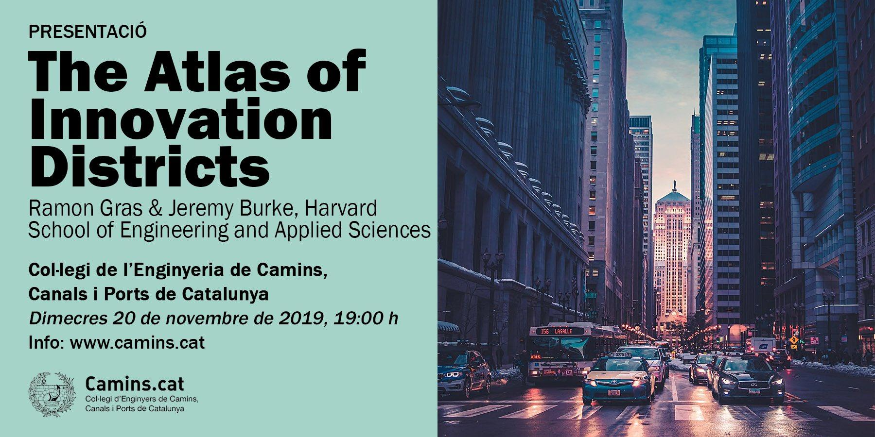 Presentació ?The Atlas of Innovation Districts?. Camins.cat