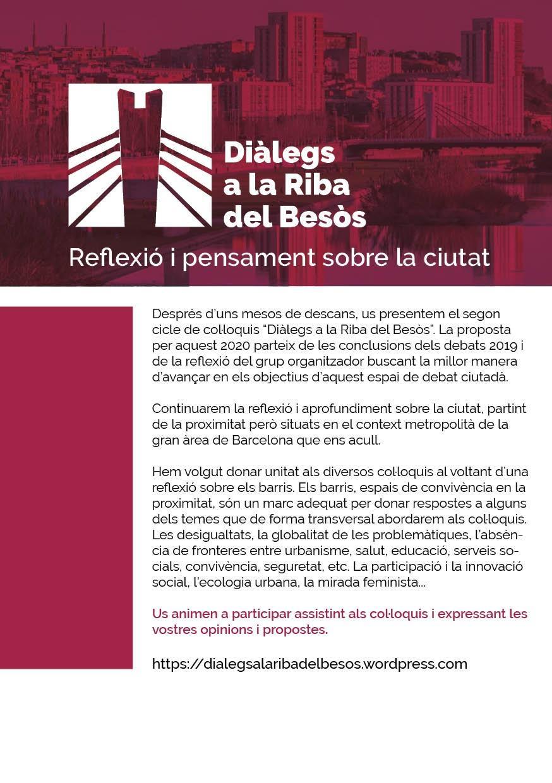 Presentació Diàlegs a la Riba del Besòs