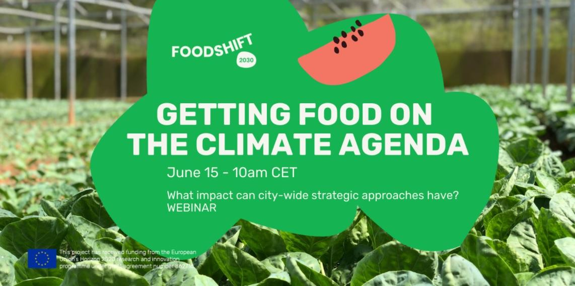 Getting food on climate agenda