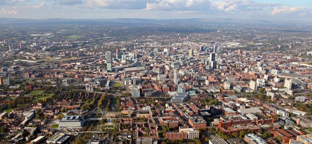 Visión aérea Greater Manchester