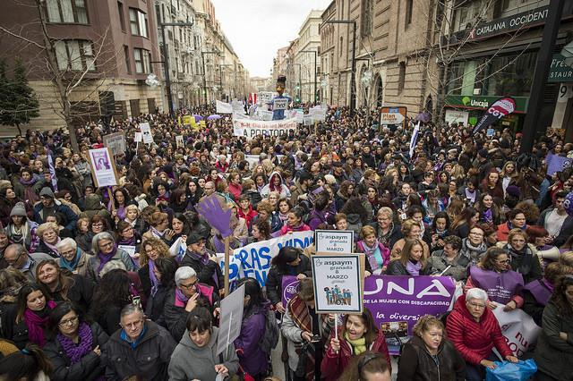 Manifestació 8M Granada (2018). Fotografia: J.M. Grimaldi / Junta de Andalucía