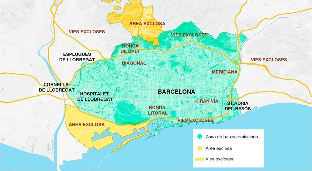 Zona Baixes Emissions. Font: gencat