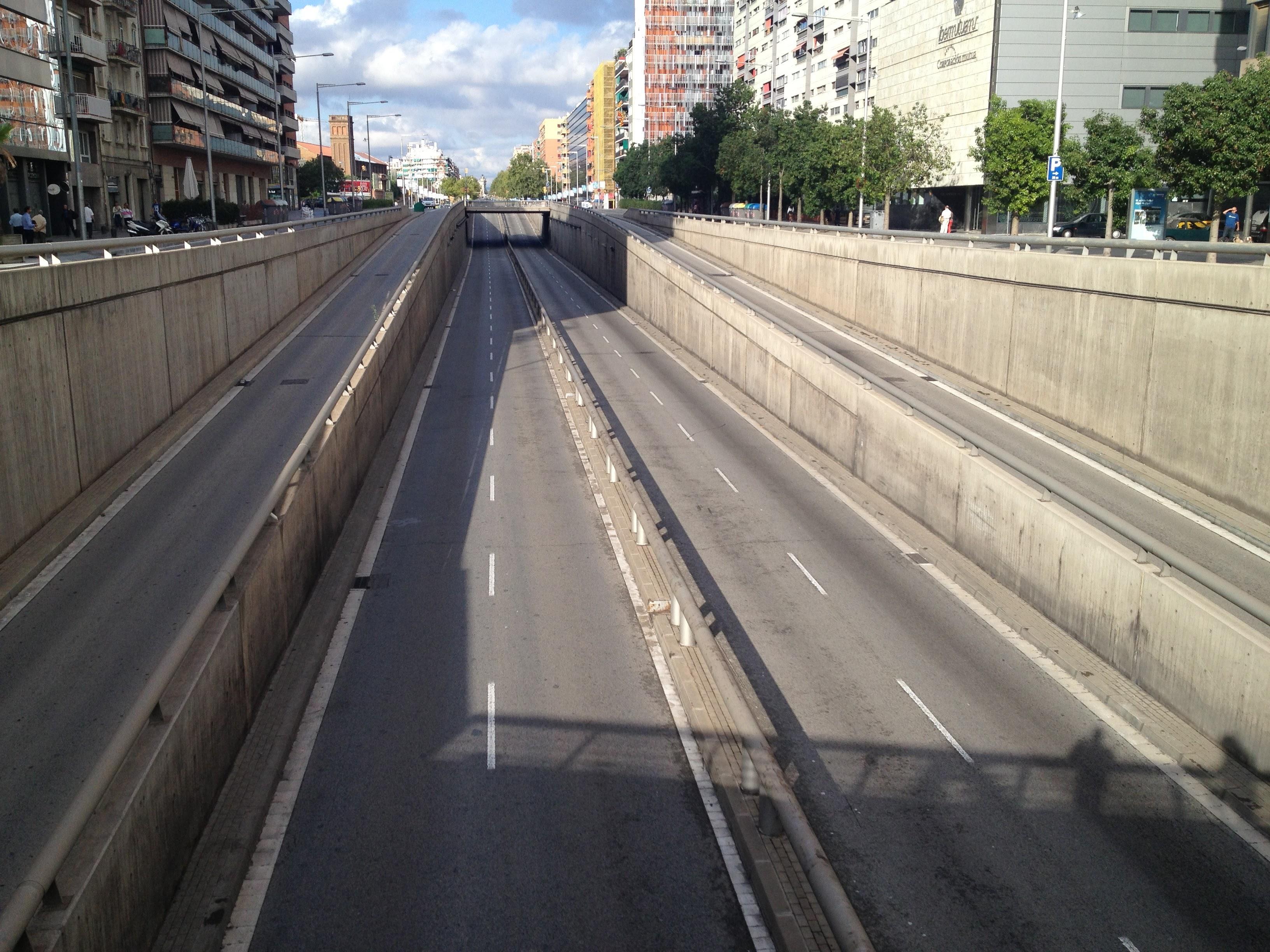 Gran Via Barcelona. Font: David Rodríguez