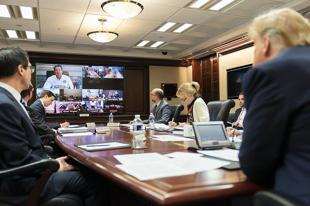 Governors Video Teleconference - Wikimedia commons