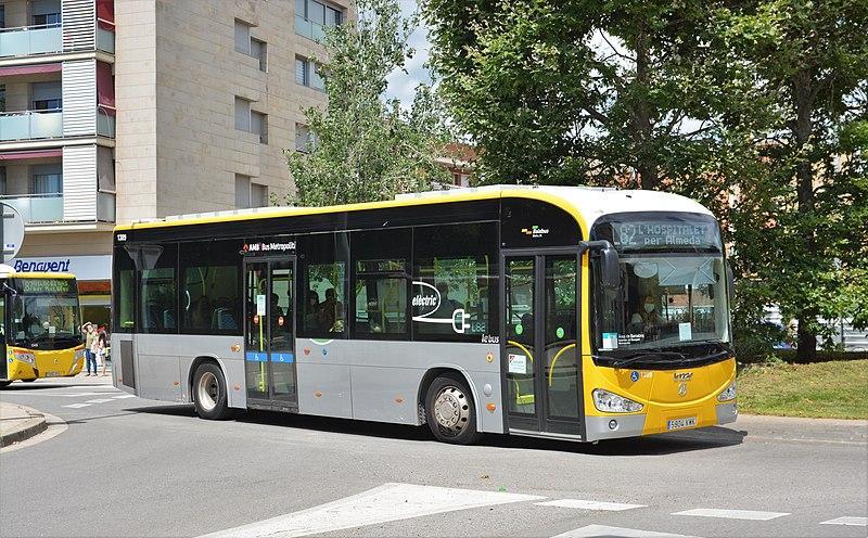 Autobús elèctric. L'Hospitalet del Llobregat. Font: Wikicommons