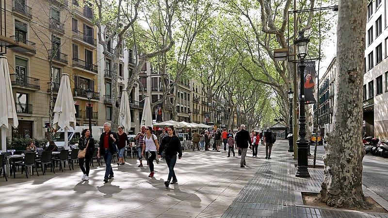 Les Rambles. Barcelona