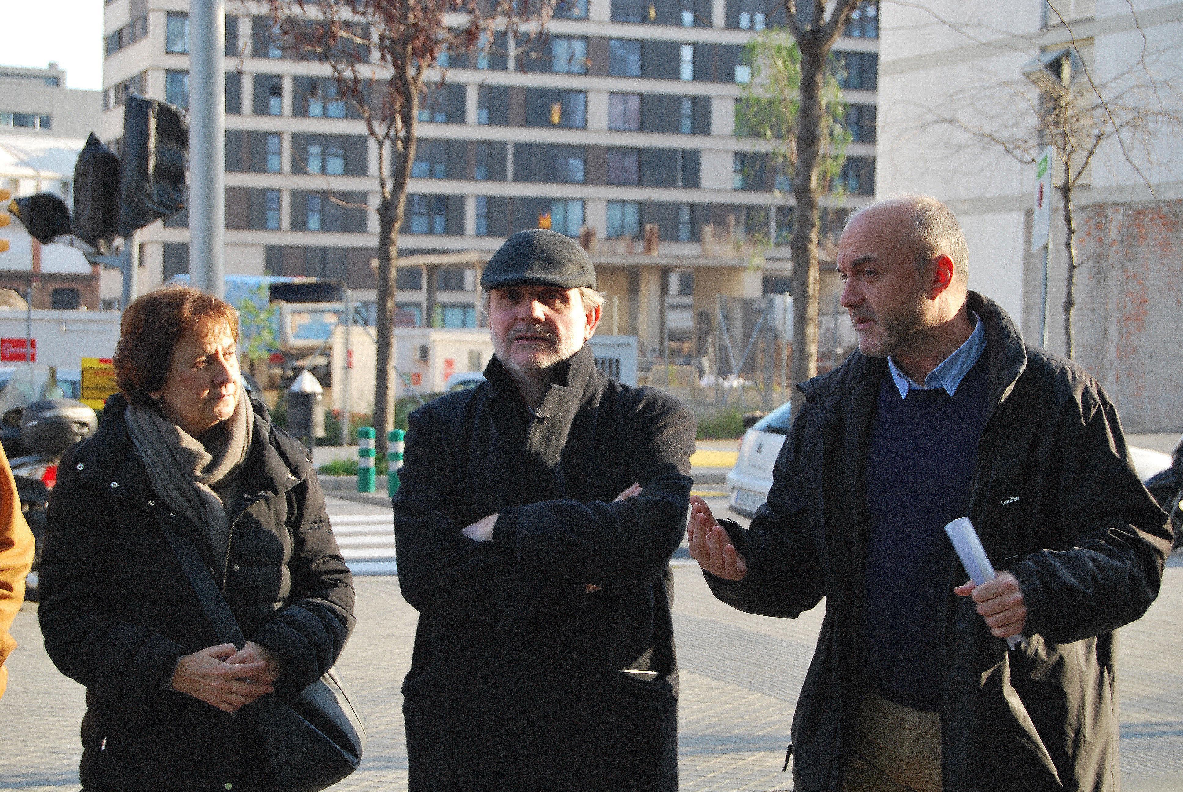 Oriol Estela, Coordinador General del PEMB, introdueix la visita a la superilla del Poblenou