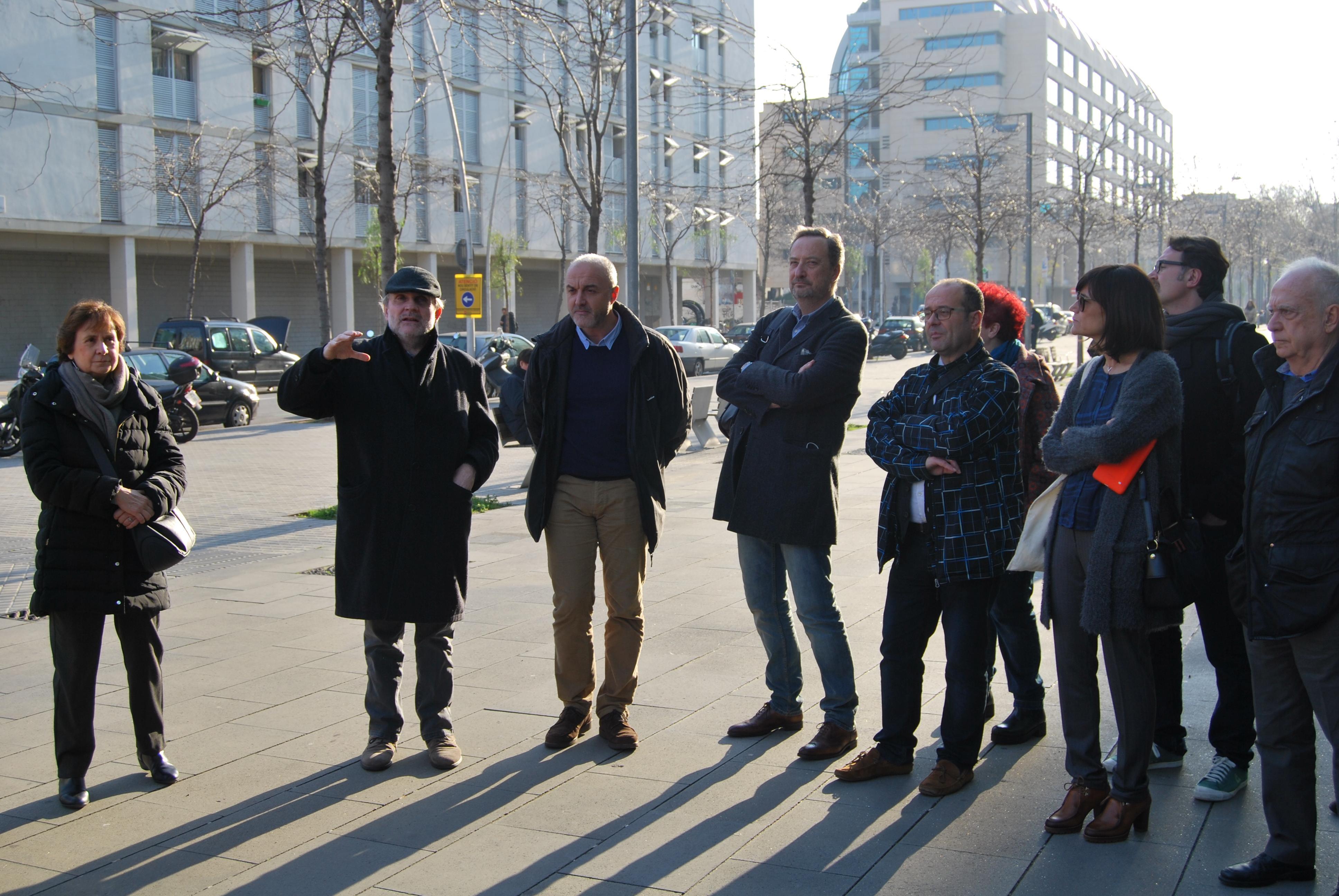 Visita a la superilla del Poblenou a càrrec de Ton Salvadó, Director de Model Urbà de l'Ajuntament de Barcelona