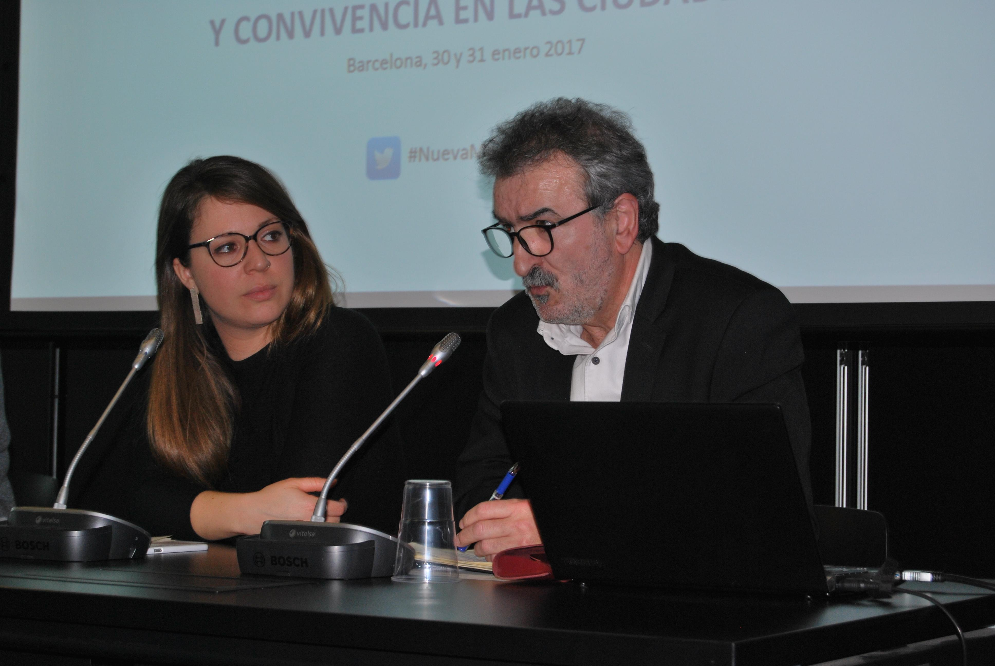 Janet Sanz y Kepa-Korta en el XIII Encuentro de la Red Ibérica del CIDEU