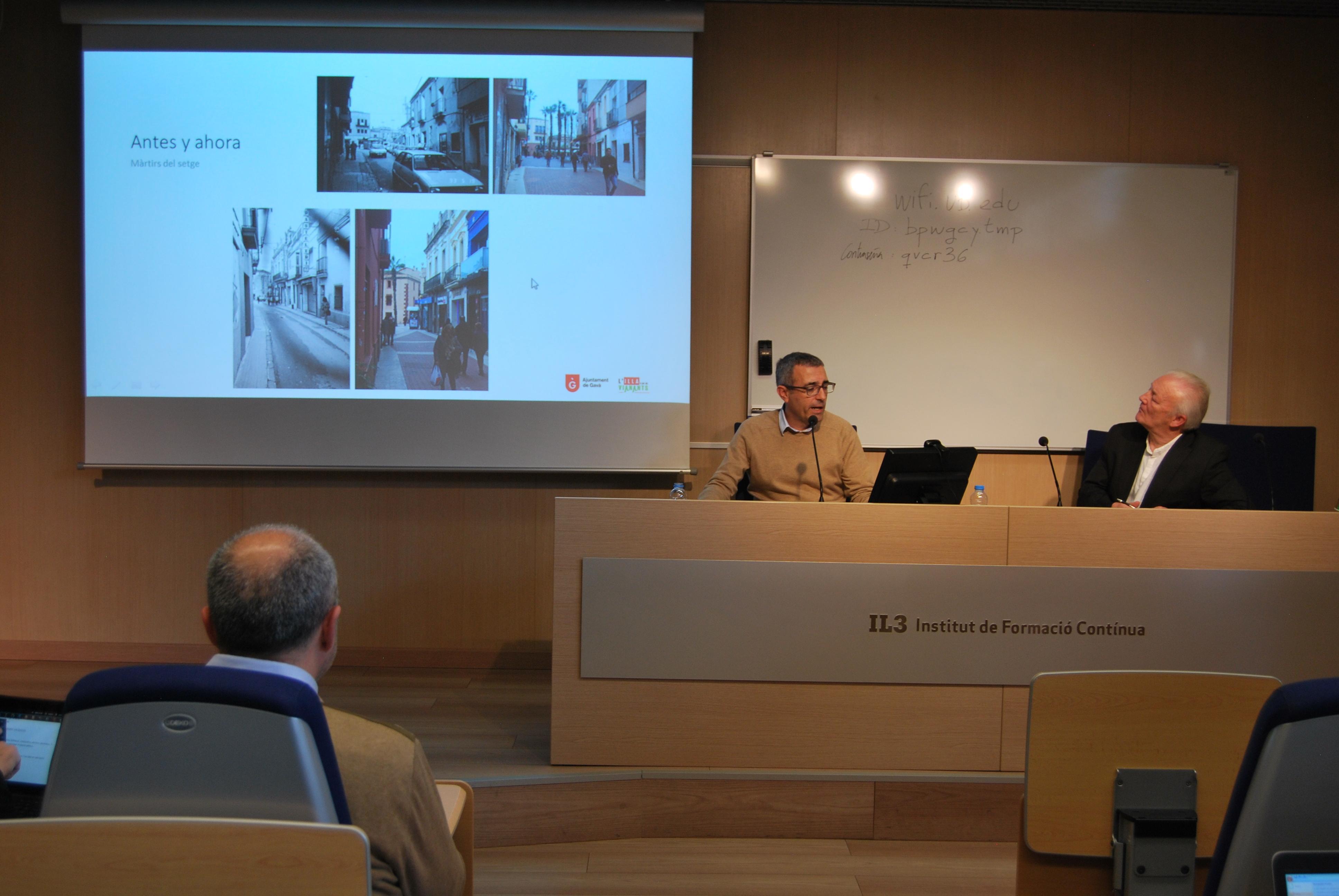 Fidel Vázquez, Director de Serveis de Planificació Territorial a l'Ajuntament de Gavà, presenta 25 anys d'illa per a vianants