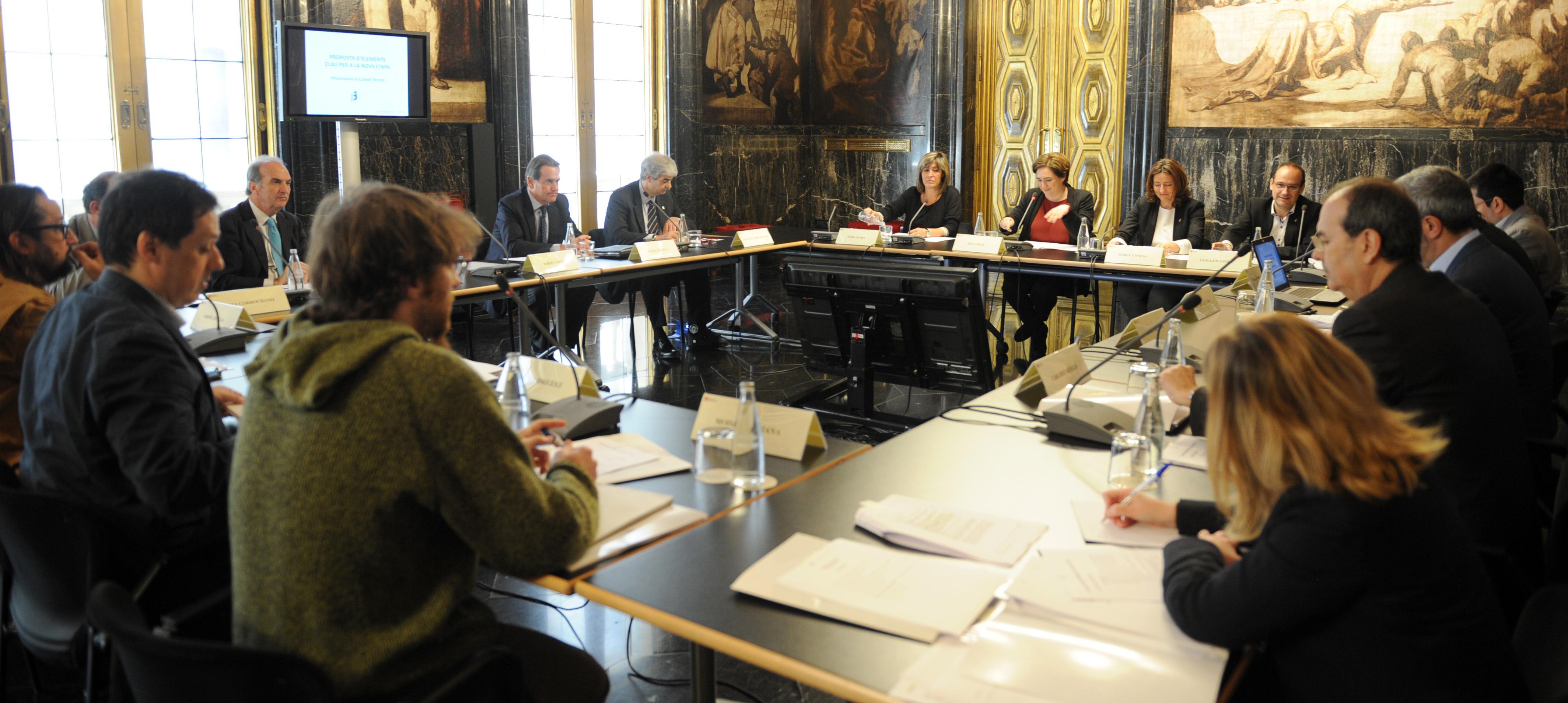 Reunión del Consejo Rector, 13 de mayo, Ayuntamiento de Barcelona