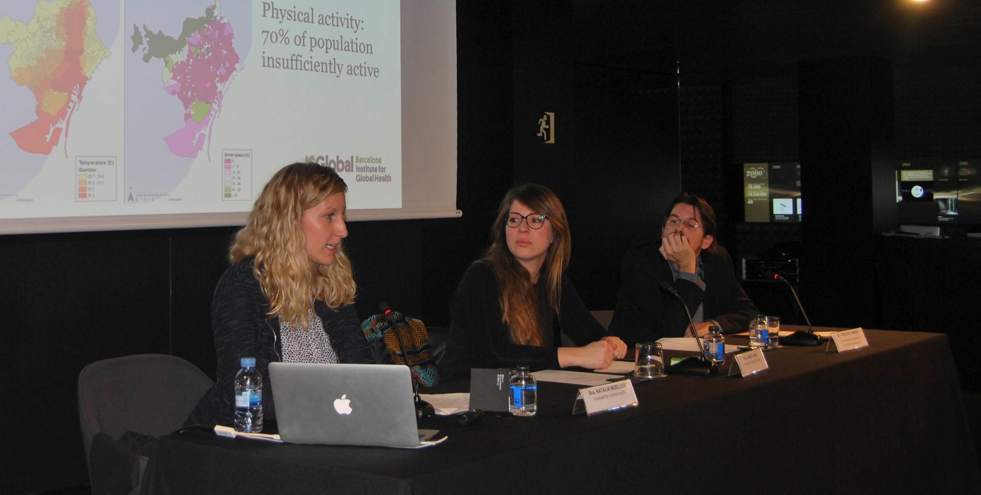 Janet Sanz, Natalie Mueller i Frederic Ximeno