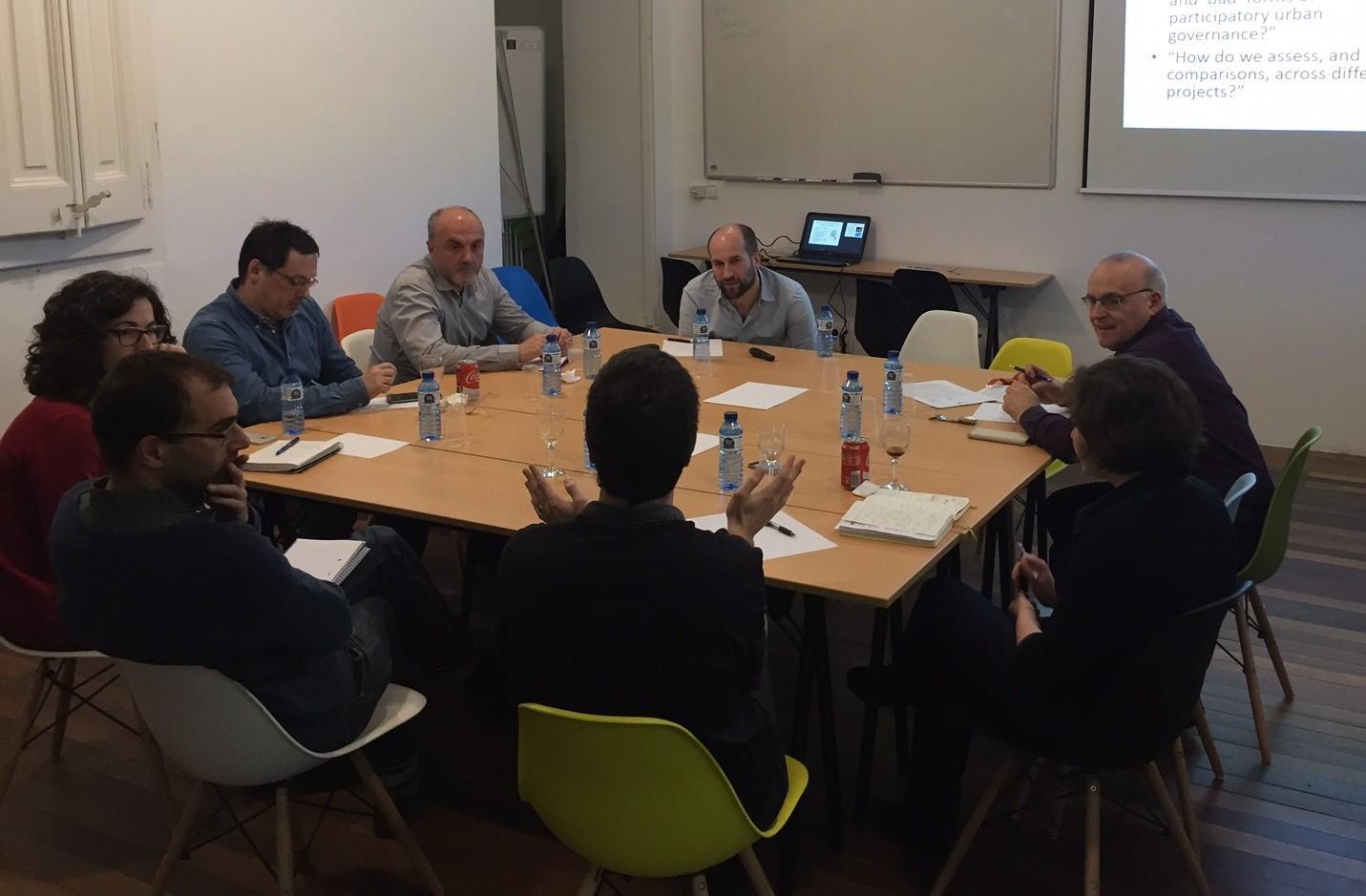 Reunió amb Bertie Russell, doctor i investigador de l?Urban Institute de la Universitat de Sheffield