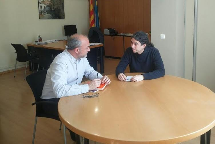 El coordinador general del PEMB, Oriol Estela Barnet, es reuneix amb l?alcalde de Ripollet, José M. Osuna