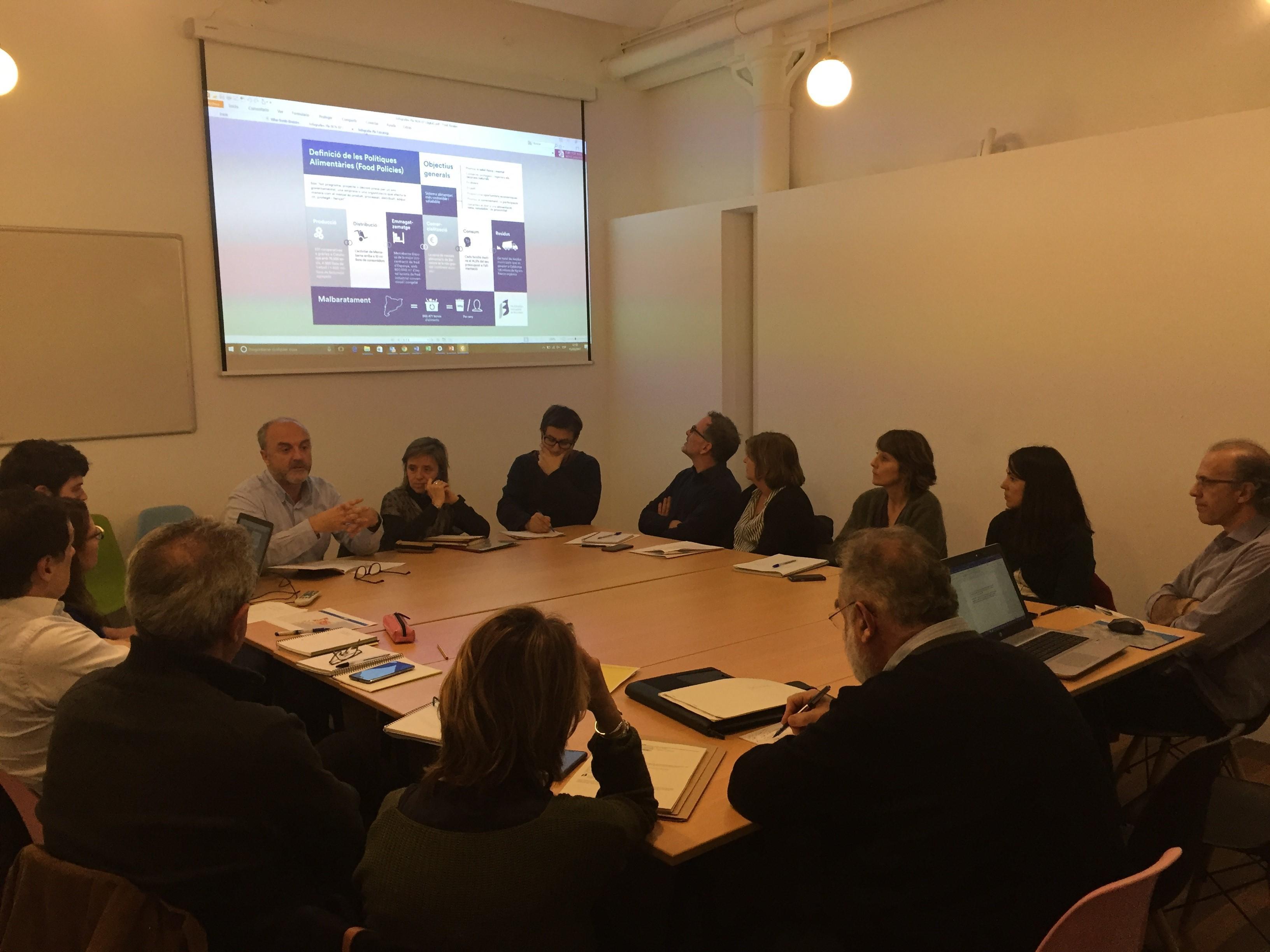 Imatge de la reunió sobre polítiques alimentàries