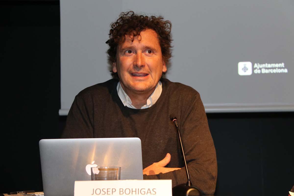 Josep Bohigas durant la seva intervenció