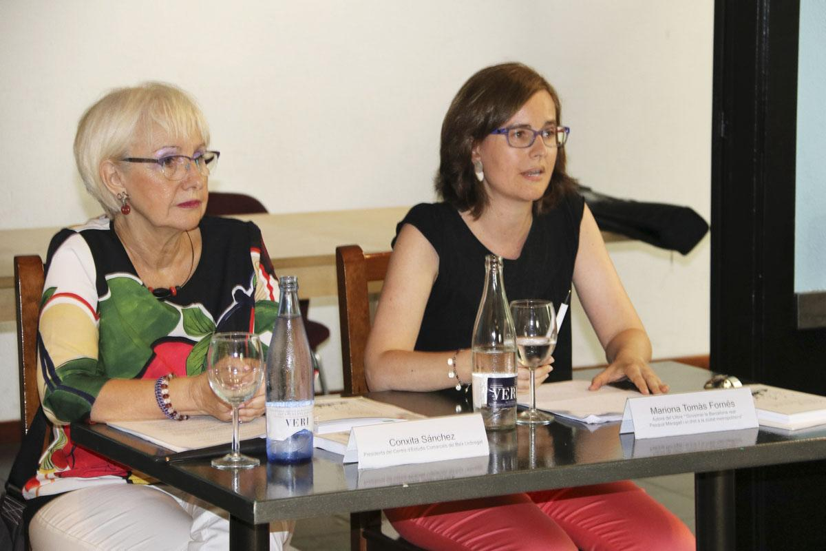 Mariona Tomàs durant la presentació del seu llibre 'Governar la Barcelona real'