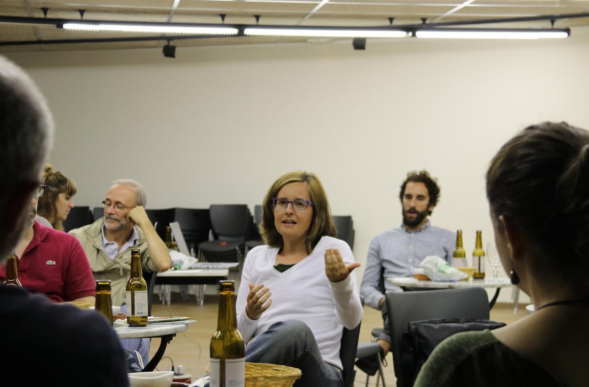 Mariona Tomàs durant el debat de #LaMetro