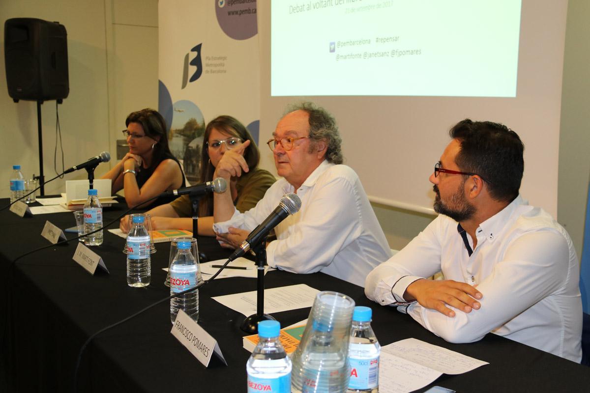 M. José Caride, Janet Sanz, J. M. Martí Font i Francisco Pomares