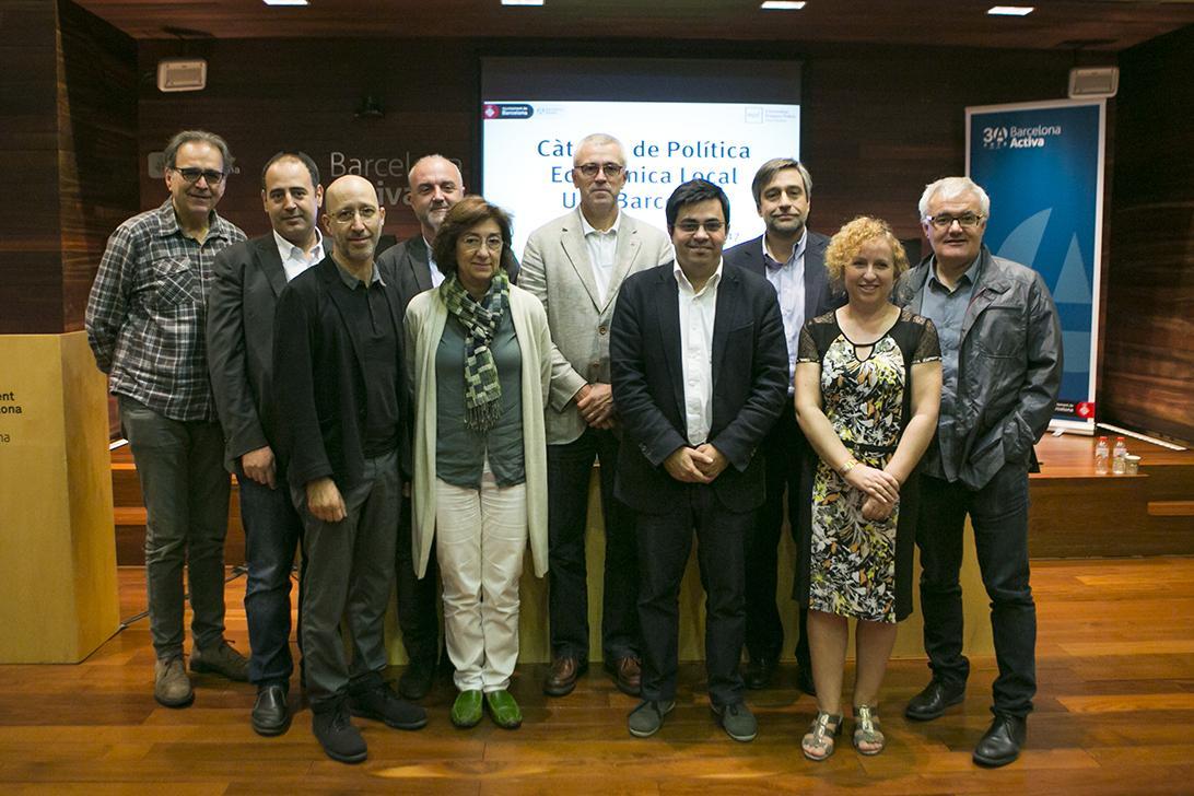 Foto d'equip de la nova Càtedra de Política Econòmica Local