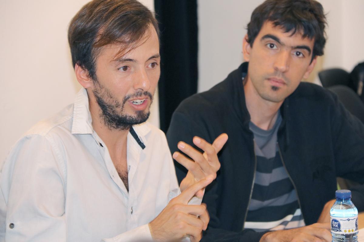 Simon Martínez durante su exposición