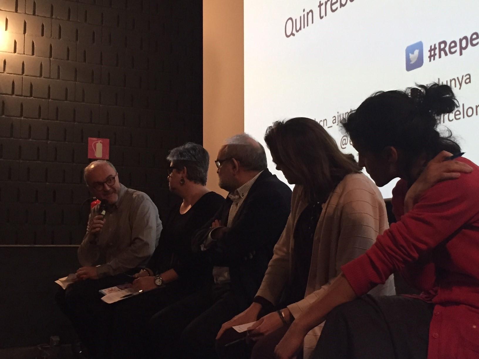 Oriol Estela durant el Cine-fòrum: 'Free Lunch Society'