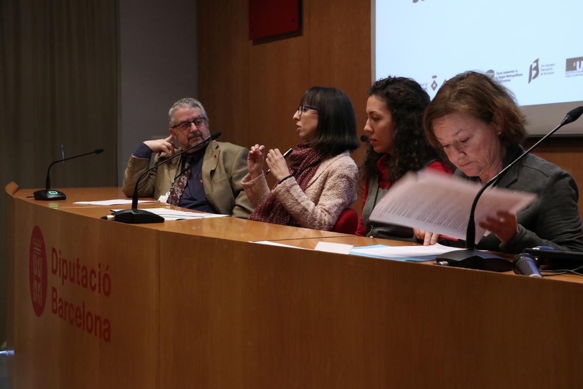 María Callejón, Liliana Fonseca, Elisenda Jové y Albert Sorribas