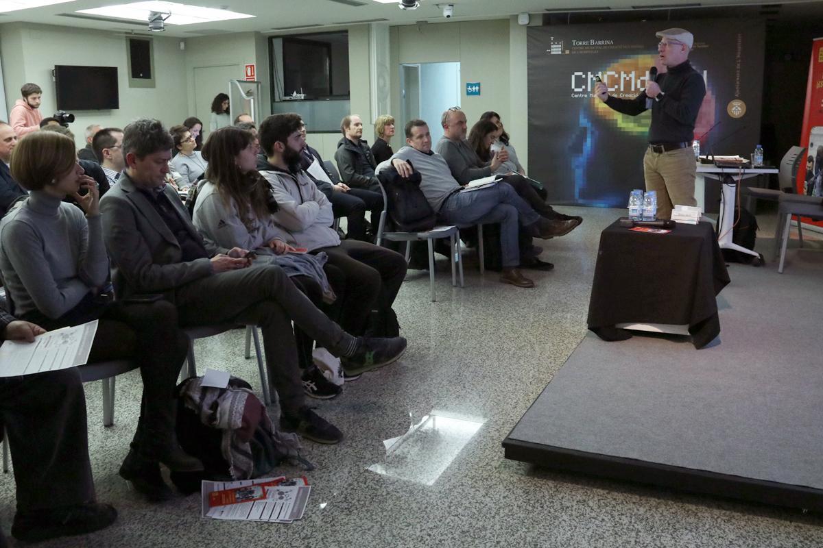 Boyd Cohen durant la presentació del seu llibre: ?Post-capitalist Entrepreneurship?