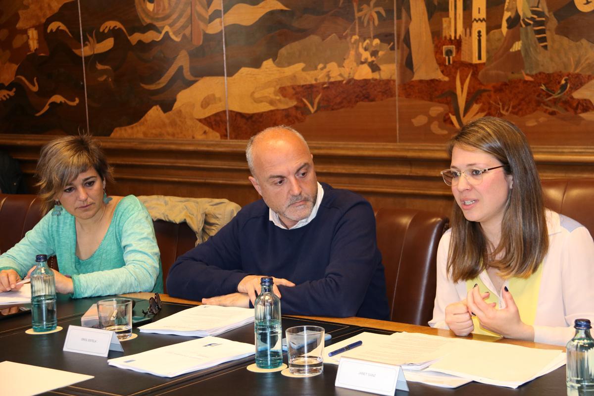 Intervenció de Janet Sanz durant el Consell Rector del Pla Estratègic Metropolità de Barcelona 2018
