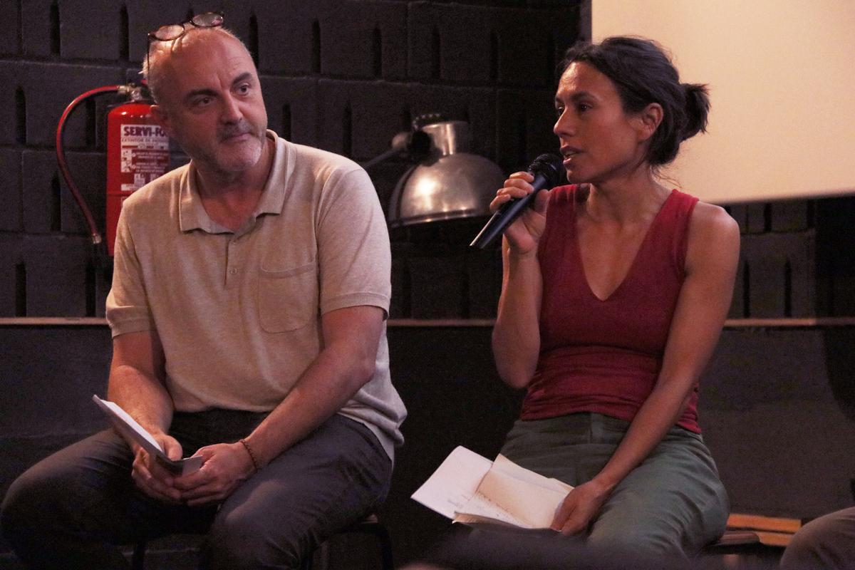 Intervenció de Marta Guadalupe Rivera durant el debat del Racó de Repensar