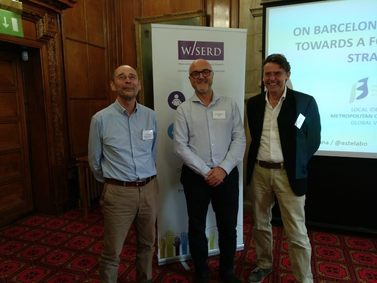 Oriol Estela durante el Congreso sobre Foundational Economy en Cardiff