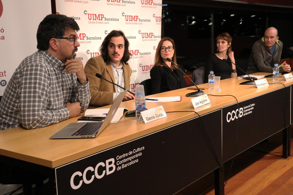 Genís Roca, Jon Aguirre, Mara Balestrini, Blanca Bladivia i Pablo Martínez