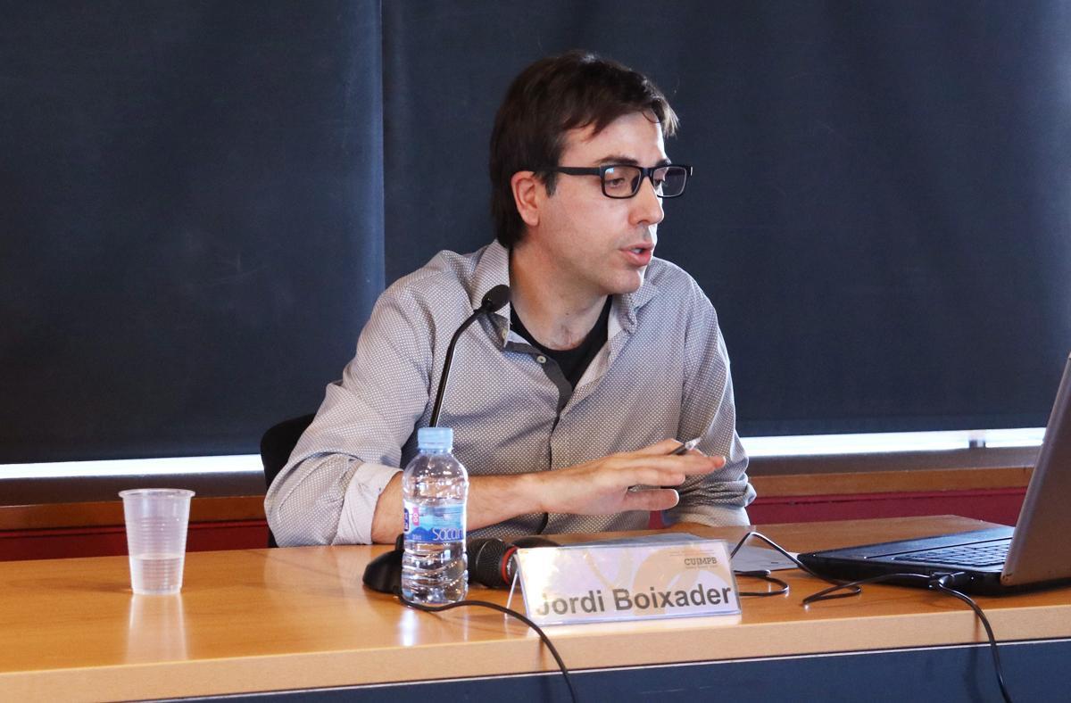 Jordi Boixader, durant la ponència 'Estratègies territorials i desenvolupament local: evolució i reptes de futur'