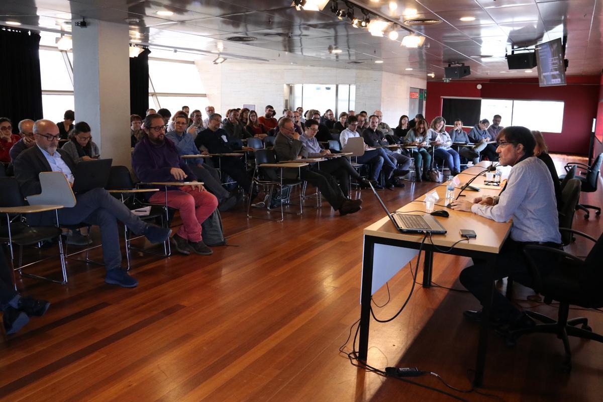 Franscesc Muñoz durante la ponencia 'Deconstruir la planificación'