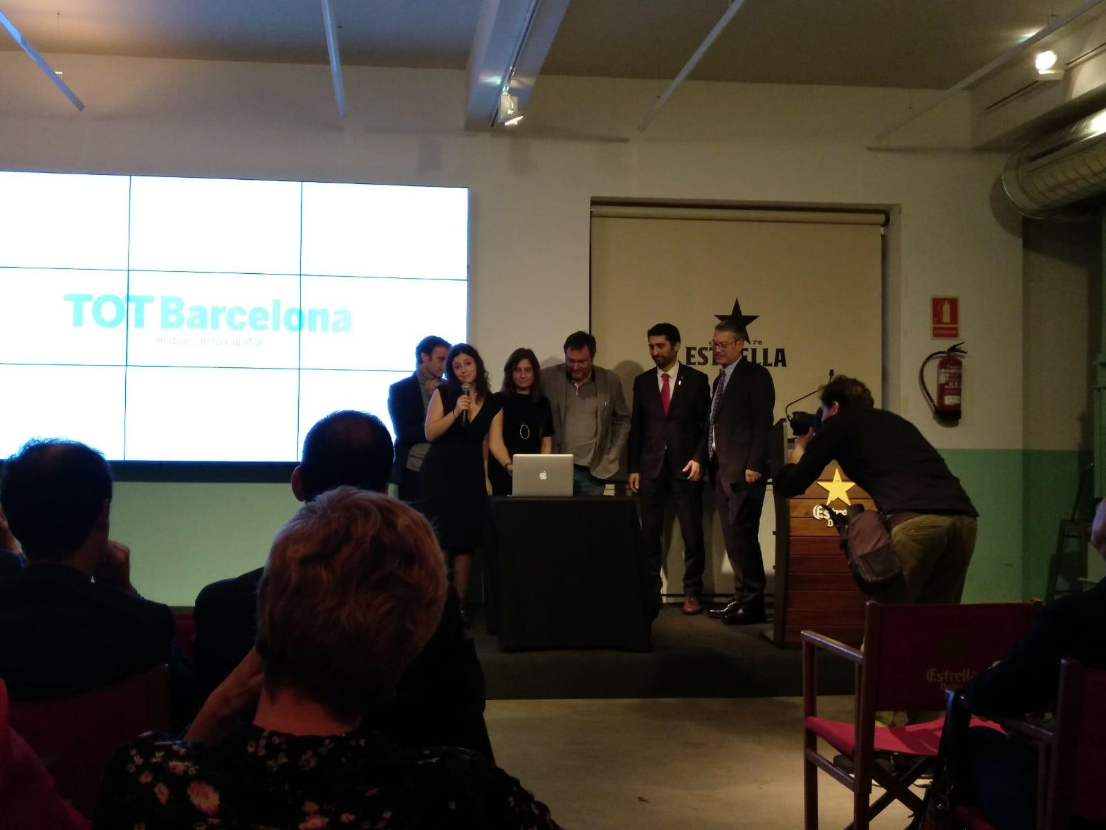 Moment de le l'activació online de 'TOT Barcelona'
