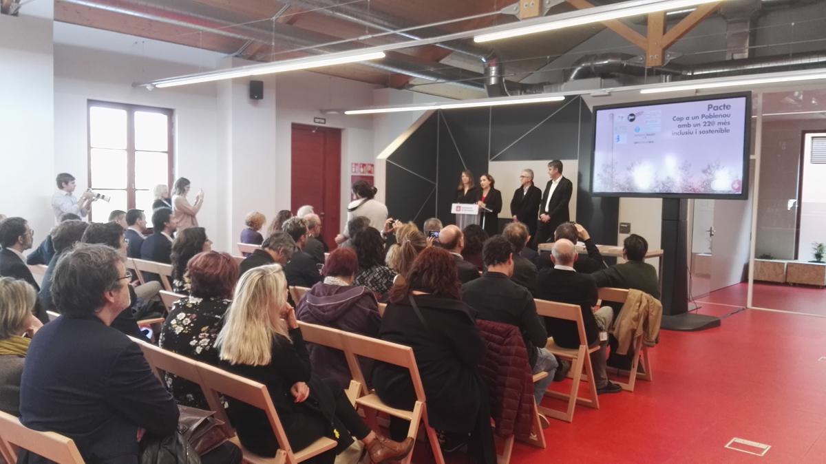 Acte de presentació del Pacte 'Per un Poblenou amb un 22@ més inclusiu i sostenible'