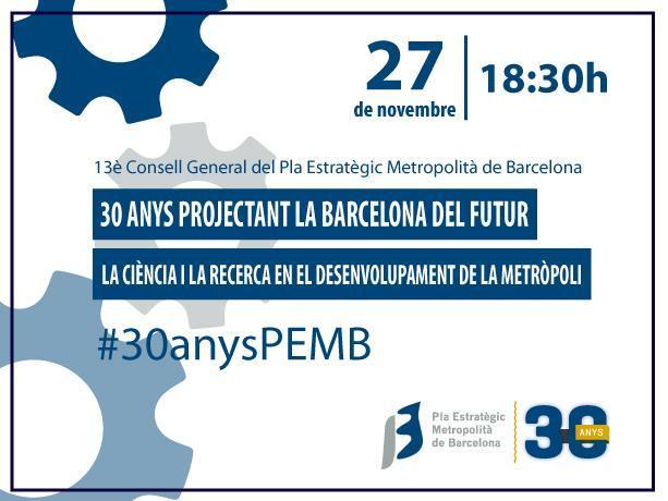 El Plan Estratégico Metropolitano de Barcelona cumple 30 años