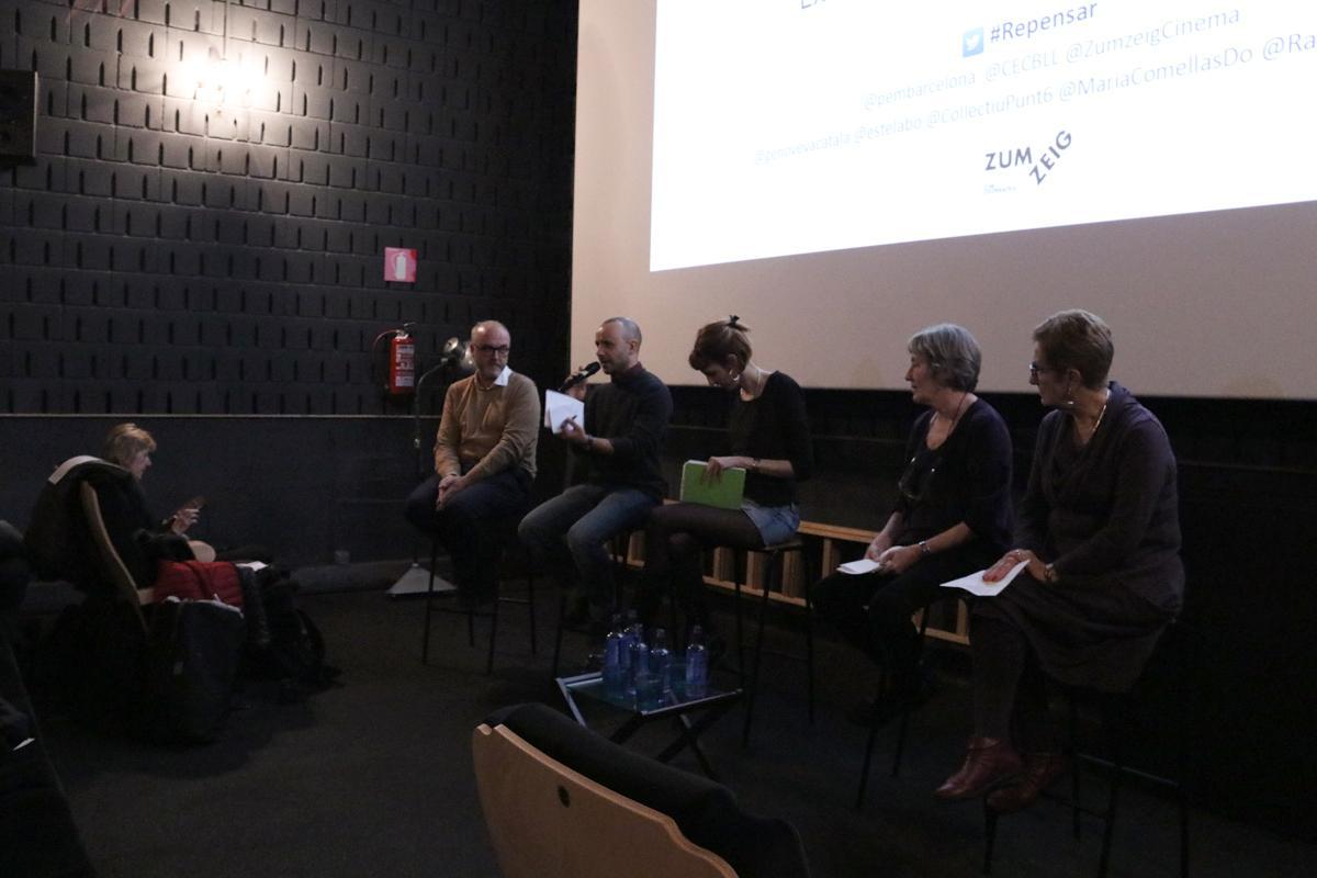 Javier Fraga (Raons Públiques) durante el debate del rincón de #Repensar