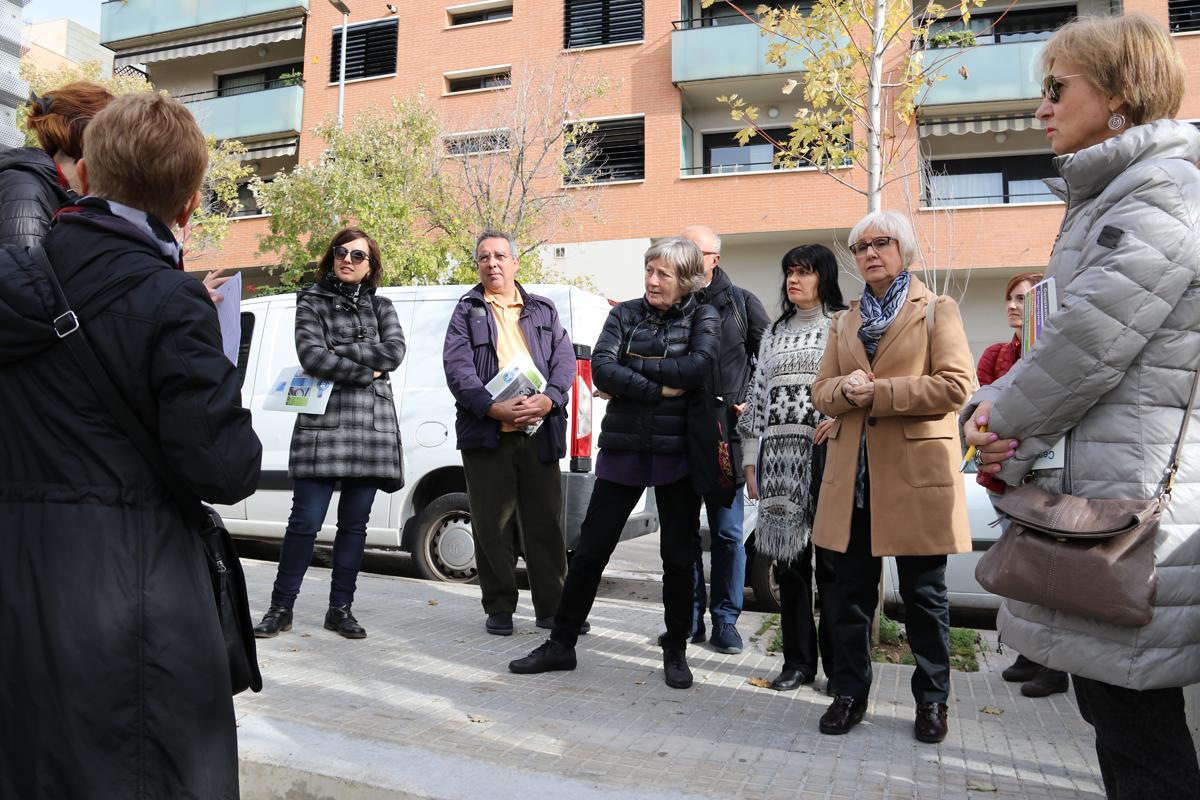 Anàlisis dels elements urbanístics durant el seminari: 'Existeix l'urbanisme feminista?'