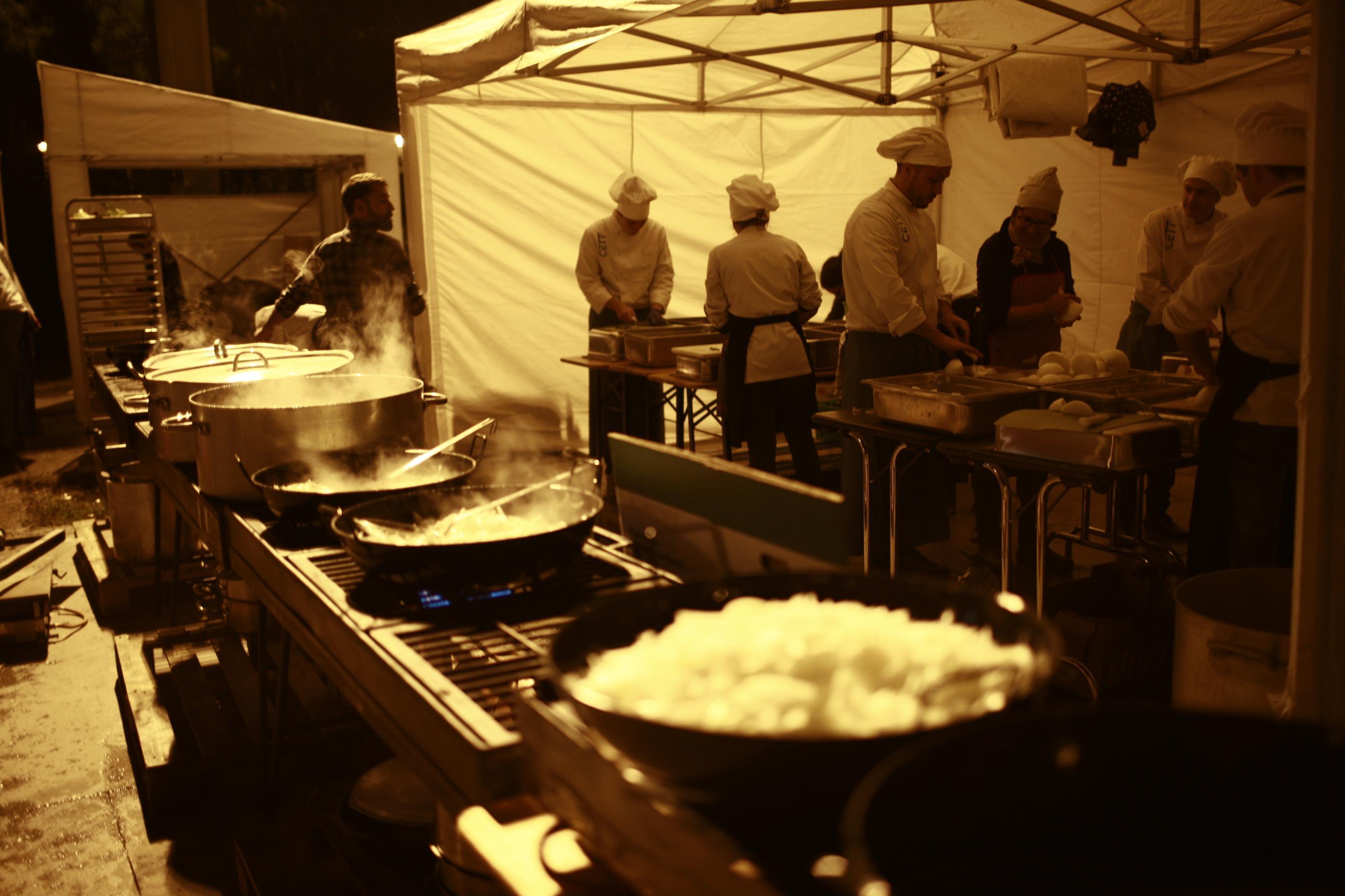 Preparación de algunos platos la noche antes