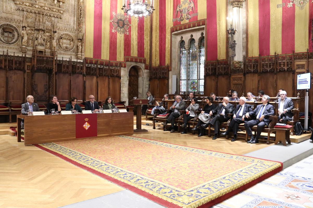 Acto de celebración de los 30 años del PEMb en el Saló de Cent del Ayuntamiento de Barcelona