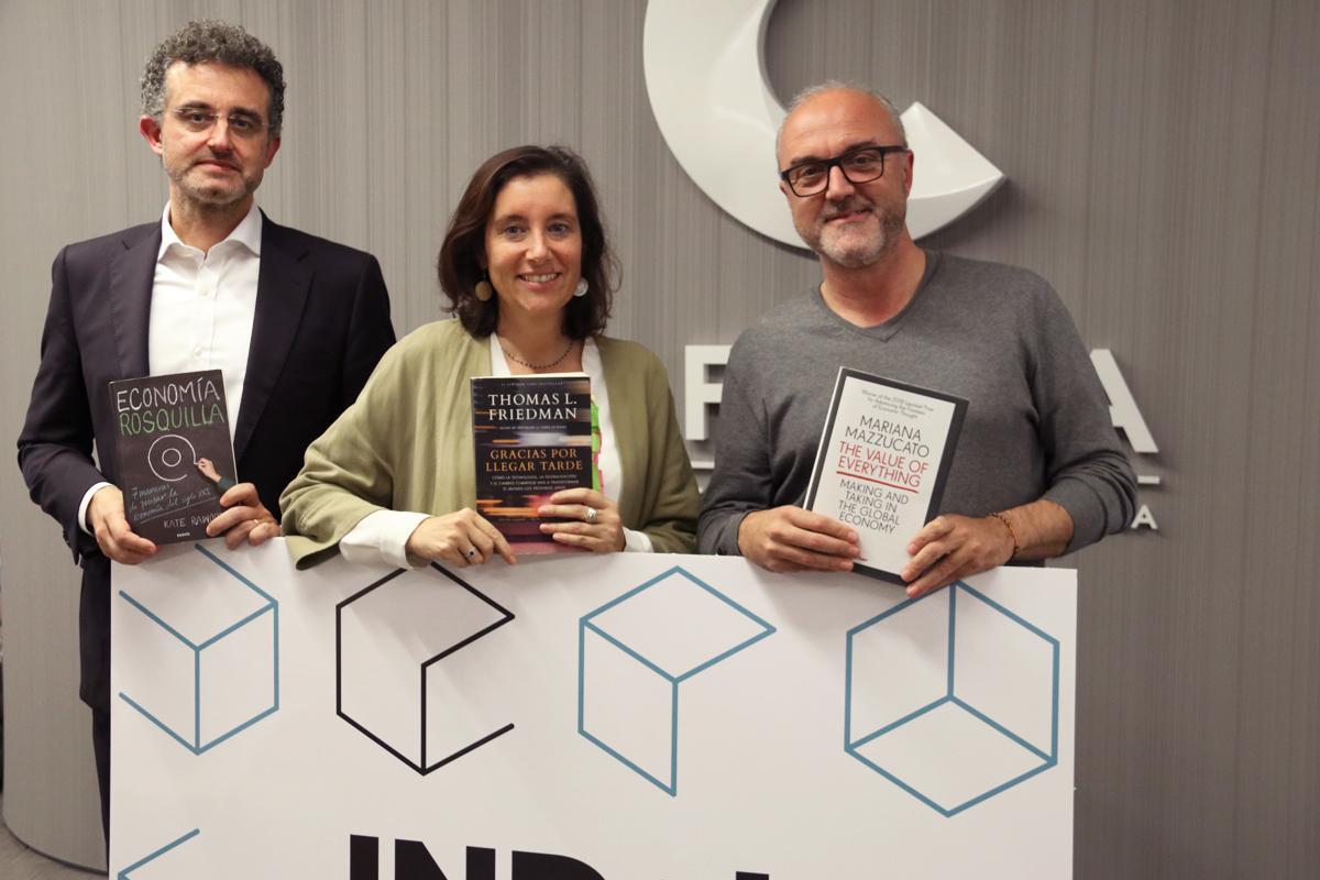 Manel Giraldo, María Salamero i Oriol Estela