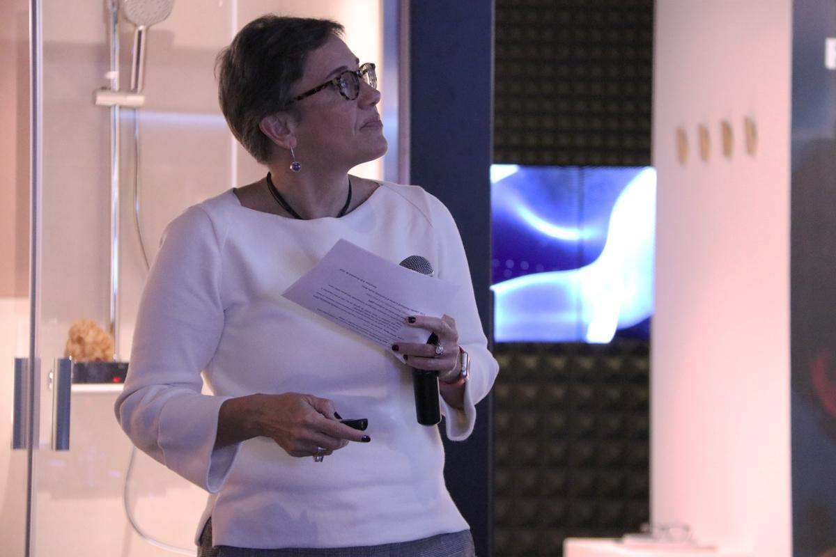 Laia Garriga durante su introducción
